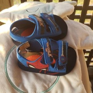 Kids spiderman sandals